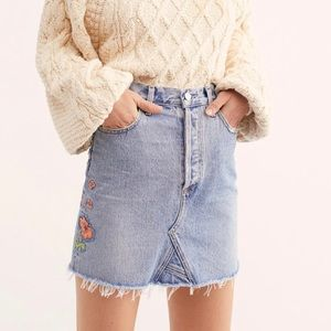 FREE PEOPLE X COH Astrid Mini Skirt Embroidery New
